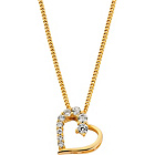 more details on 18ct Gold Plated Sterling Silver CZ Heart Pendant.