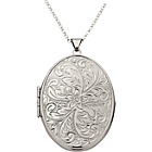 more details on Sterling Silver Large Fancy Oval Locket Pendant.