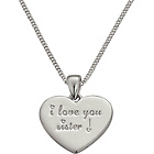more details on Sterling Silver I Love You Sister Pendant.