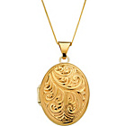 more details on 9ct Gold and Sterling Silver Family Locket Pendant.