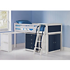 more details on Coloured Blue Mid Sleeper with Chest/Desk & Finley Mattress.