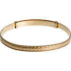 more details on 9ct Rolled Gold Heart Design Expander Bangle.