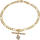 more details on 9ct Gold Figaro Heart T-Bar Bracelet.