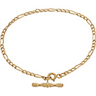 more details on 9ct Gold Figaro T-Bar Bracelet.