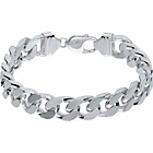 more details on Sterling Silver Solid Diamond Cut Curb Bracelet.