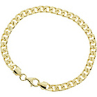more details on 9ct Gold Plated Sterling Silver Curb Bracelet.