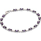 more details on Sterling Silver Amethyst Coloured CZ Kisses Bracelet.