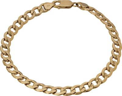 Buy 9ct Gold Solid Look Curb Bracelet at Argos.co.uk ...
