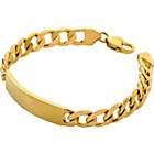 more details on 9ct Gold Plated Sterling Silver ID Bracelet.