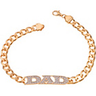 more details on 18ct Gold Plated Silver Cubic Zirconia Set Dad Bracelet.