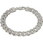 more details on Sterling Silver Solid Cubic Zirconia Bracelet.