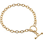 more details on 9ct Rolled Gold Trace Link T- Bar Bracelet.