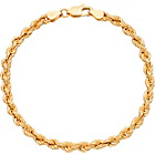 more details on 9ct Gold Plated Silver Rope Bracelet.