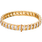 more details on 18ct Gold Plated Silver 0.10ct Diamond Bracelet.
