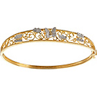 more details on 9ct Gold Plated Sterling Silver Butterfly Bangle.