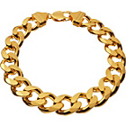 more details on Gold Plated Silver Men's 2oz Solid Curb Bracelet.