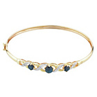 more details on 9ct Gold Black Sapphire and Diamond Flexible Bangle.