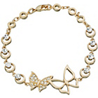 more details on 18ct Gold Plated Sterling Silver Crystal Butterfly Bracelet.