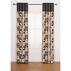 more details on Heart of House Lauren Curtains 168 x 183cm - Black.