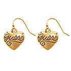 more details on Guess Gold Coloured Crystal Heart Drop Earrings.