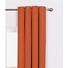 more details on Heart of House Hudson Textured Curtains - 168x183cm -Russet.