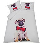 more details on Pug Panel Multicoloured Bedding Set - Double.