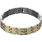 more details on Stainless Steel Two-Tone Magnetic Bracelet.