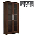 more details on Heart of House Elford 2 Door Display Cabinet-Dark Oak Effect