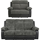 more details on Collection Bradley Large and Reg Manual Recliner - Charcoal