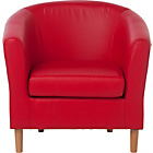 more details on ColourMatch Leather Effect Tub Chair - Poppy Red.
