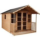 more details on Mercia Premier Wooden Summer House with Veranda 12 x 8ft.