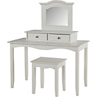 more details on Amelie Dressing Table with Stool - White.