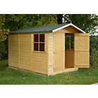 more details on Homewood Guernsey Double Door Wooden Apex Shed 7 x 10ft.