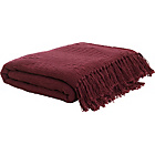 more details on HOME Diamond Cotton Throw - Plum.