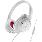 Audio Technica AX1iS Over-Ear Headphones - White