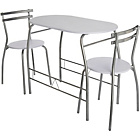 more details on HOME Vegas Dining Table and 2 Chairs - White.