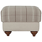 more details on Heart of House Argyll Checked Fabric Footstool-Mink/Cream.