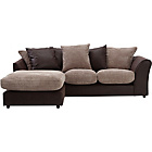 more details on Bailey Leather Effect Left Hand Corner Sofa - Natural.