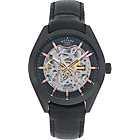 more details on Rotary Men's Black Strap Skeleton Watch.