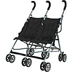 more details on BabyStart Twin Pushchair - Black.