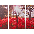 more details on Collection Red Floral Forest Triptych Canvas - Set of 3.