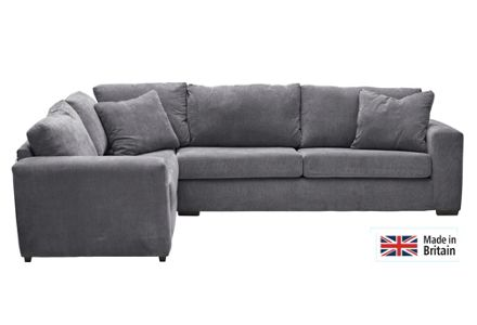 Heart of House Eton Fabric Left Hand Corner Sofa - Charcoal.