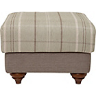 more details on Heart of House Argyll Checked Fabric Footstool - Duck Egg.