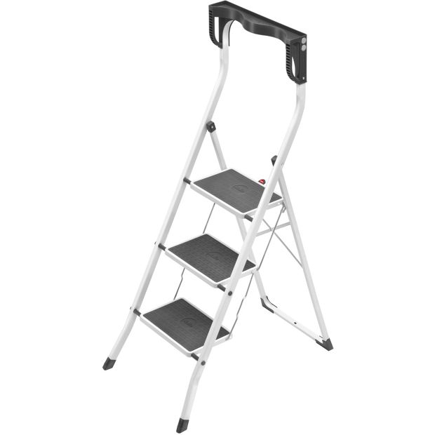 buy hailo 3 tread safety plus step stool at your online shop for ladders and step. Black Bedroom Furniture Sets. Home Design Ideas