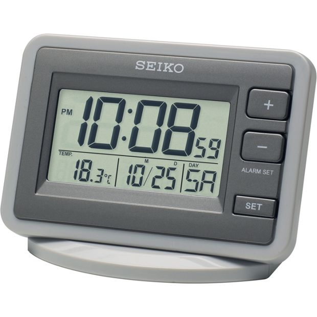 buy seiko lcd alarm clock at your online shop for clocks home furnishings home. Black Bedroom Furniture Sets. Home Design Ideas
