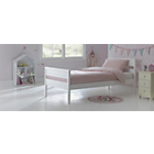 more details on Faris White Single Bed Frame with Bibby Mattress.