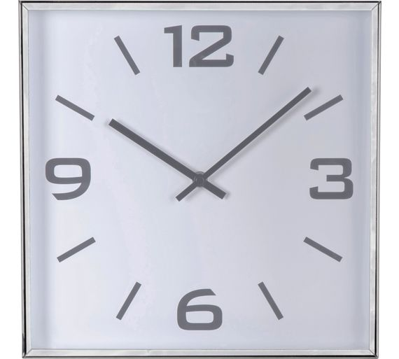 heart of house jermyn silver square wall clock at argos co uk argos 2 pc living room