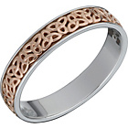 more details on St. David's 9ct Rose Gold and Sterling Silver Wedding Band.