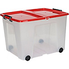 more details on 75 Litre Clear Storage Box with Red Lid.