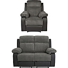 more details on Bradley Regular Fabric Recliner Sofa and Chair - Charcoal.